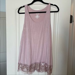 Maurices Blush Pink Sequin Tank